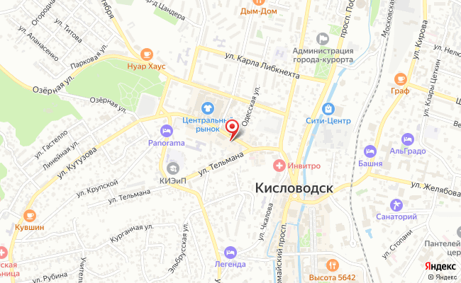 Карта расположения пункта доставки СИТИЛИНК в городе Кисловодск