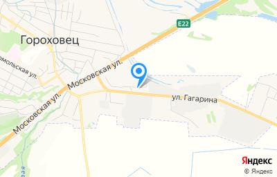 Местоположение на карте пункта техосмотра по адресу Владимирская обл, г Гороховец, ул Гагарина, д 69