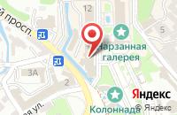 Схема проезда до компании Amber Empire в Зеленоградске
