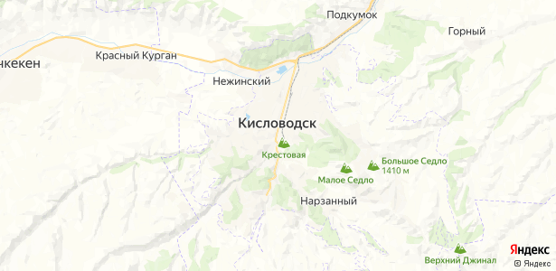 Кисловодск на карте