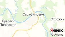 Отели города Серафимович на карте