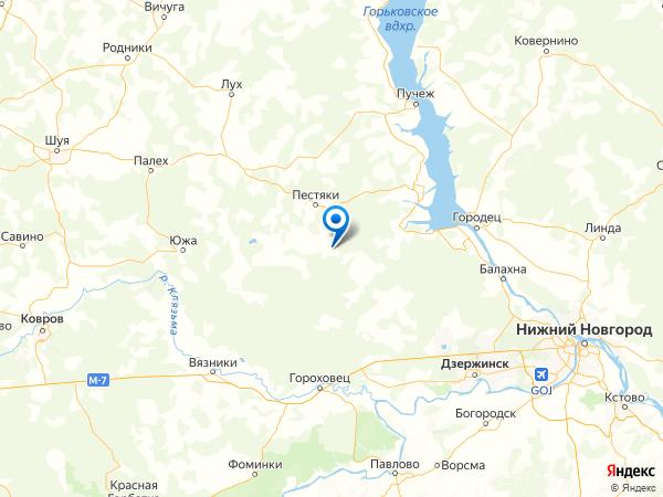 село Никулино на карте