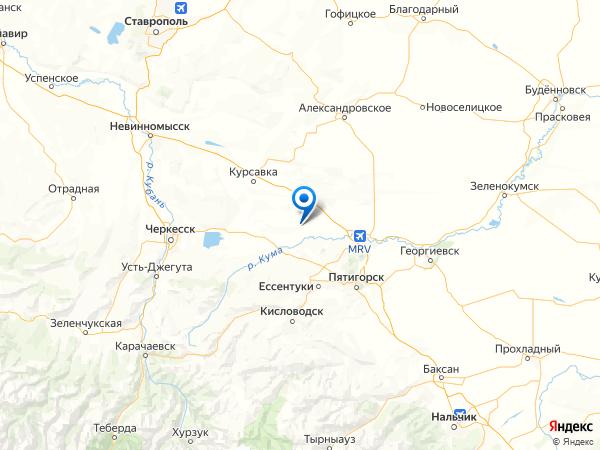 поселок Нижнебалковский на карте