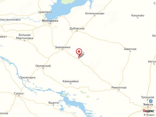 хутор Глубокий на карте