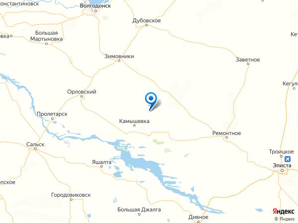 хутор Савоськин на карте
