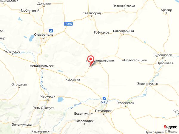 село Круглолесское на карте