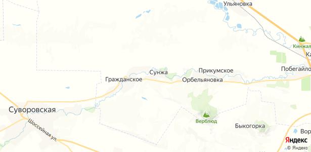 Сунжа на карте