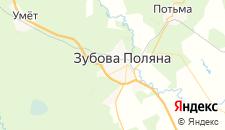Отели города Зубова Поляна на карте