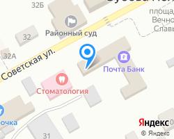 Схема местоположения почтового отделения 431110