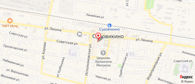 Карта расположения пункта доставки СИТИЛИНК в городе Суровикино
