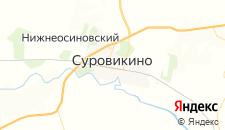 Отели города Суровикино на карте