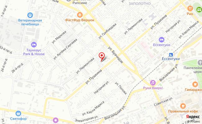 Карта расположения пункта доставки СИТИЛИНК в городе Ессентуки