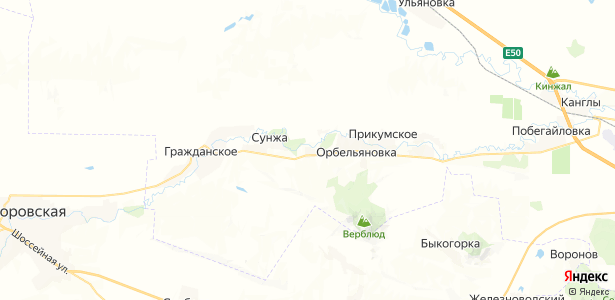 Успеновка на карте