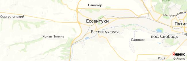 Ессентуки на карте