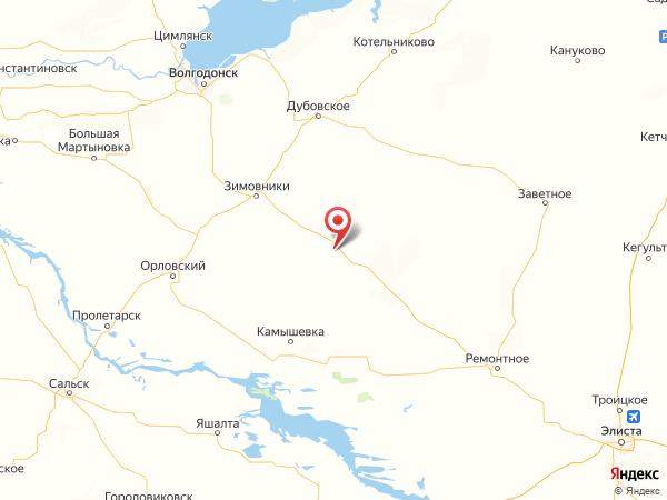 хутор Прасковейский на карте