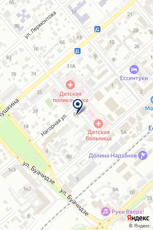 АНО ЦЕНТР КОМПЛЕМЕНТАРНОЙ МЕДИЦИНЫ НАДИННА на карте Ессентуков