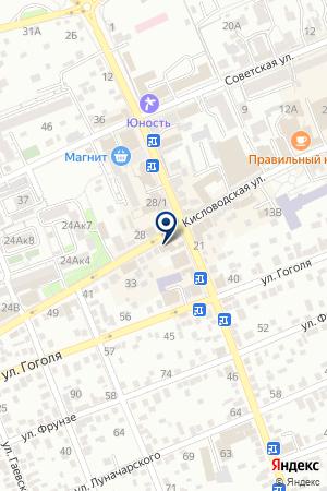 Вега на карте Ессентуков