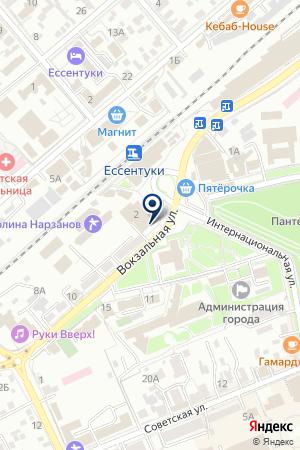 АПТЕКА ВСЕ ДЛЯ ЗДОРОВЬЯ на карте Ессентуков