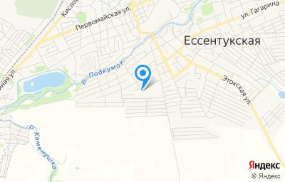 Местоположение на карте пункта техосмотра по адресу Ставропольский край, ст-ца Ессентукская, пер Юцкий, д 1