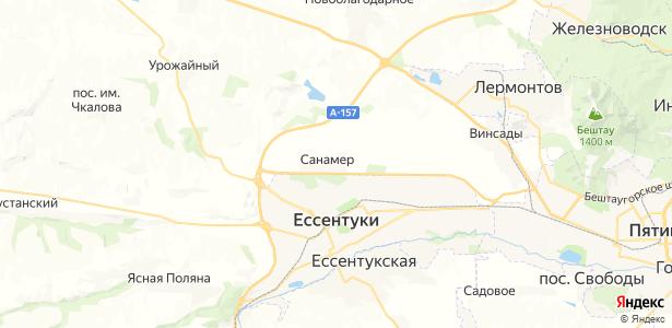 Санамер на карте