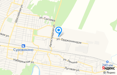 Местоположение на карте пункта техосмотра по адресу Волгоградская обл, г Суровикино, ул Орджоникидзе, д 91