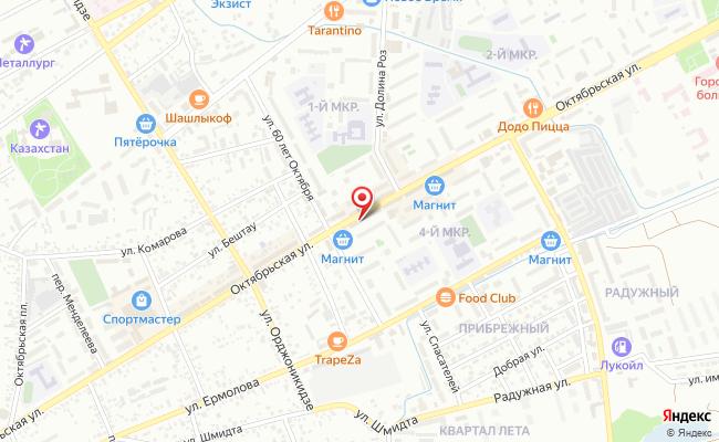 Карта расположения пункта доставки Билайн в городе Ессентуки