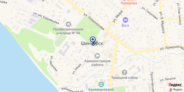 ТФ ШЕНЬГА-ЛЕС на карте Шенкурске