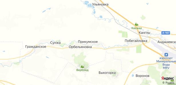 Прикумское на карте