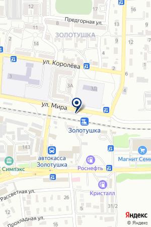 АЗС ЮКОС на карте Ессентуков