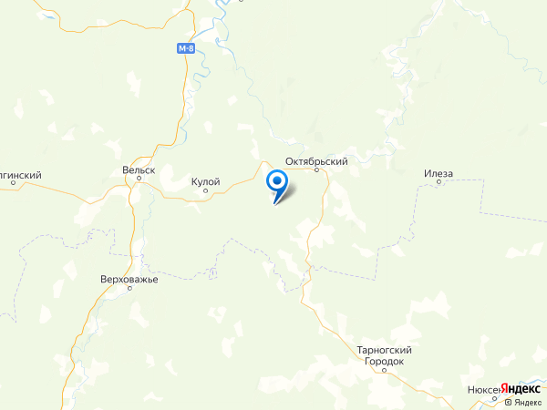 деревня Выселок Новинки на карте
