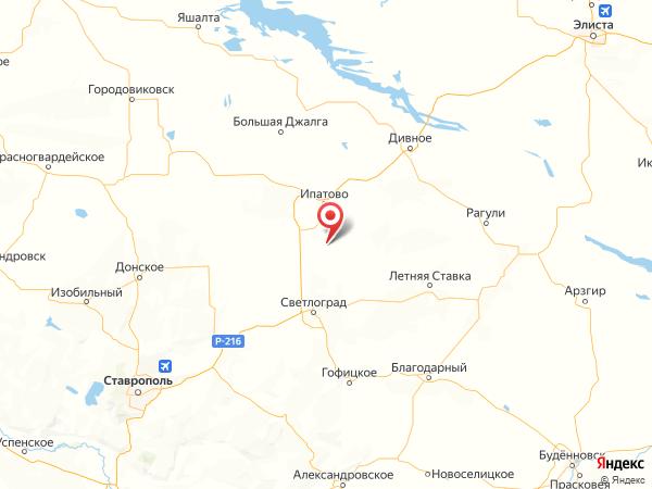 село Крестьянское на карте