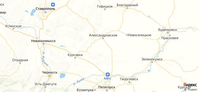 Ставропольский край - объекты на карте