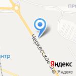 Бора-мебель на карте Пятигорска (КМВ)