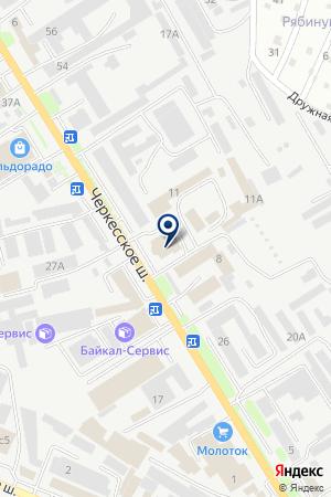 МАГАЗИН ДОНЕЦКАЯ МАНУФАКТУРА ТЕКСТИЛЬ на карте Пятигорска