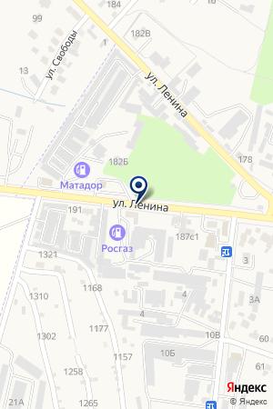 АЗС № 30 СТАВРОПОЛЬНЕФТЕПРОДУКТ на карте Железноводска