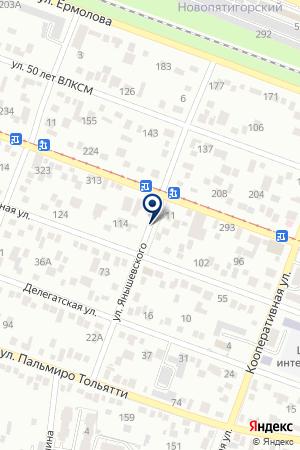 НИКОЛЬСКАЯ ЦЕРКОВЬ на карте Пятигорска