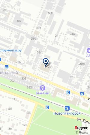 ОкнаСтрой на карте Пятигорска
