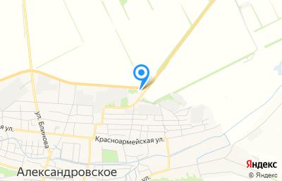 Местоположение на карте пункта техосмотра по адресу Ставропольский край, с Александровское, ул Элеваторная, д 18