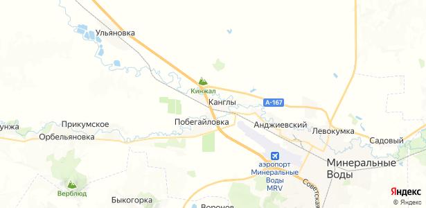 Канглы на карте