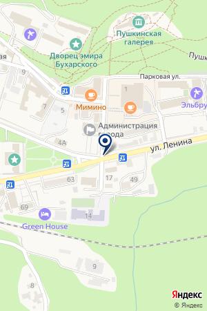 ЖЕЛЕЗНОВОДСКАЯ ФАБРИКА ДЕТСКОЙ ОДЕЖДЫ на карте Железноводска