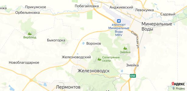 Воронов на карте