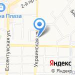 Глянец на карте Пятигорска (КМВ)