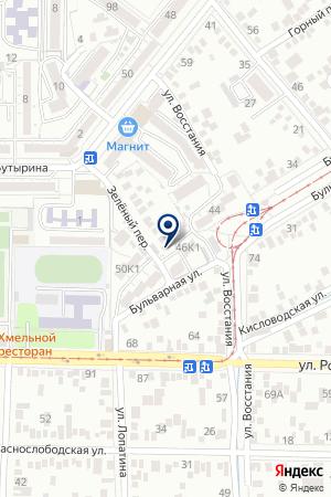 РЕДАКЦИЯ ГАЗЕТЫ МЕРИДИАН КМВ на карте Пятигорска