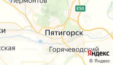 Базы отдыха города Пятигорск на карте