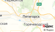 Гостиницы города Пятигорск на карте
