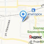 ГАРАЖ на карте Пятигорска (КМВ)