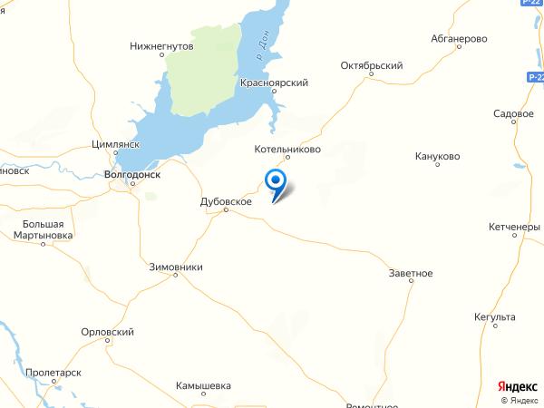 хутор Яблочный на карте