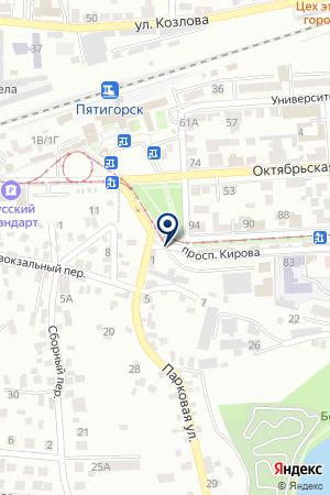 РЕКЛАМНОЕ АГЕНТСТВО WIZARD на карте Пятигорска