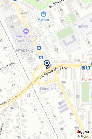 МЕБЕЛЬНЫЙ МАГАЗИН СОЛНЦЕ В ДОМЕ на карте Пятигорска