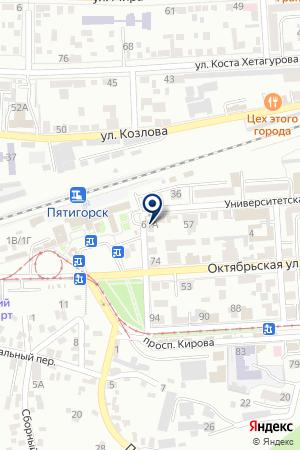 АПТЕКА ГУТТА-ФАРМ на карте Пятигорска